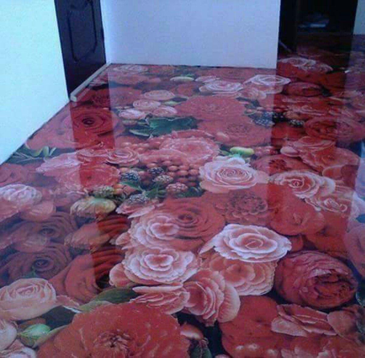Koi 3d Wallpaper Porcelanato L 237 Quido Incolor Resina Cristal Autonivelante