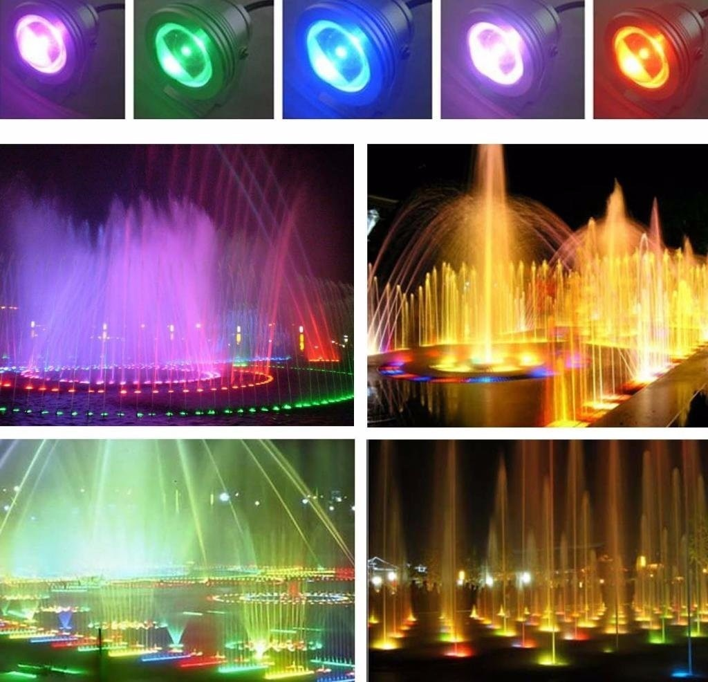 Luces Led Piscina Reflector Luz Led Multicolor Luces Rgb Sumergible Piscinas