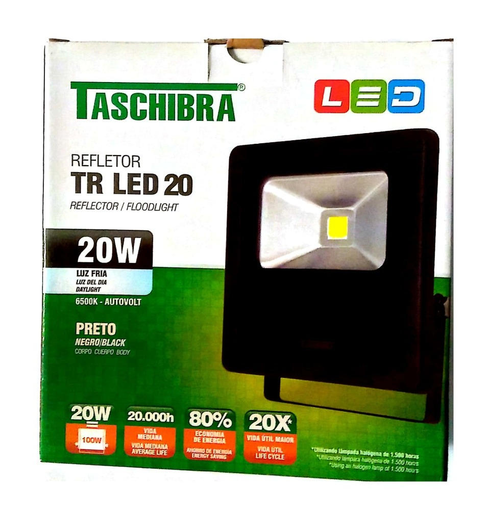 Refletor Led Taschibra 100w Refletor Led 20 Taschibra 20w 2 Unidades Disponivel