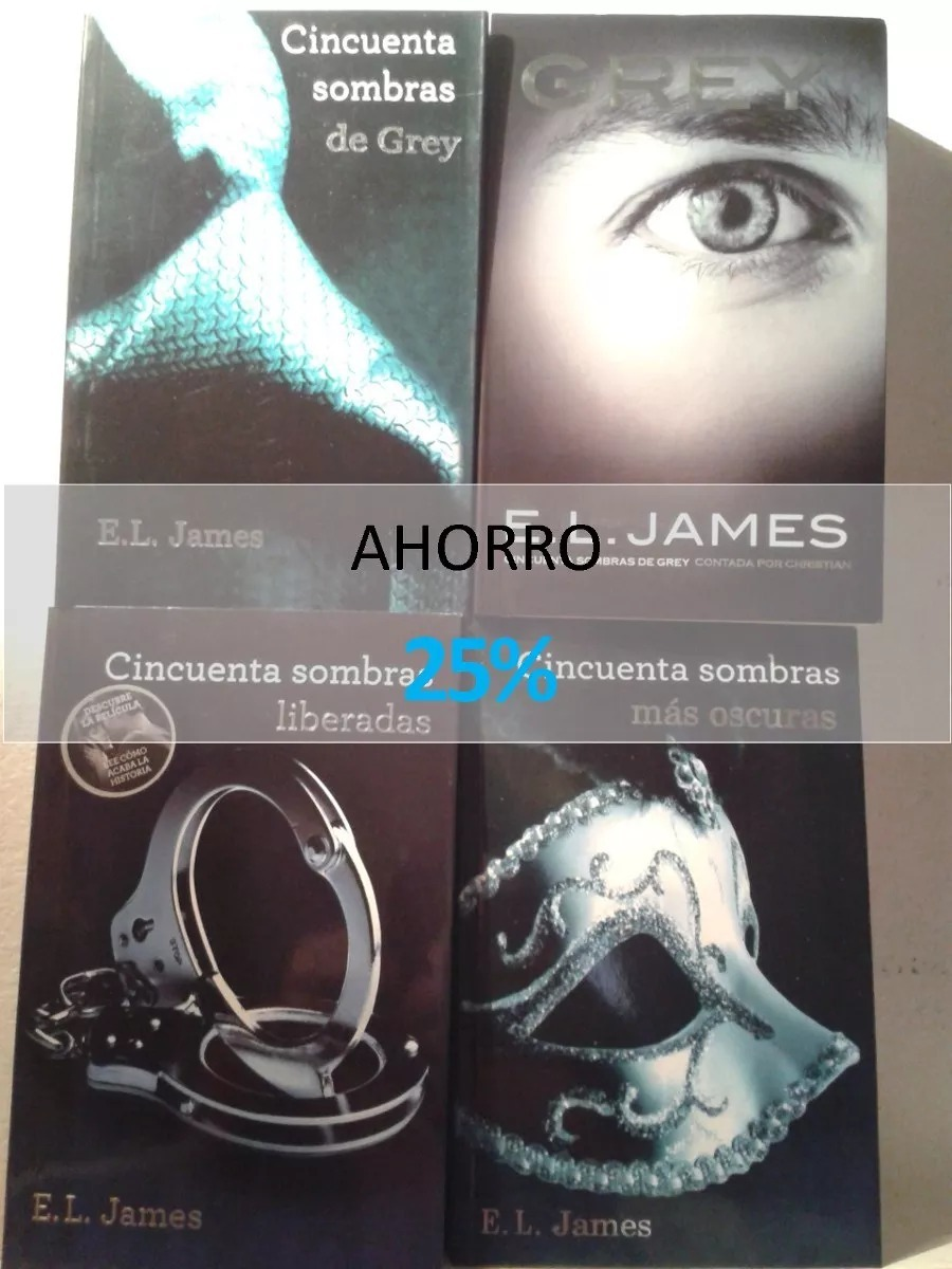Libros E L James Saga Completa 50 Sombras De Grey 4 Libros E L James