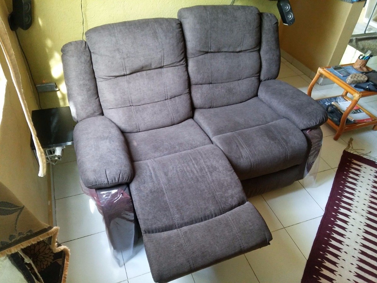 Sofa Reclinable Doble Sillon Reclinable Doble - $ 7,500.00 En Mercado Libre