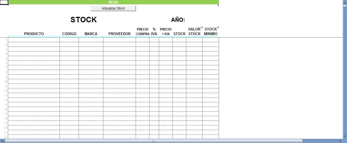 Sistema En Excel Para Control De Inventario Entradas Salidas - Bs - formato inventario en excel
