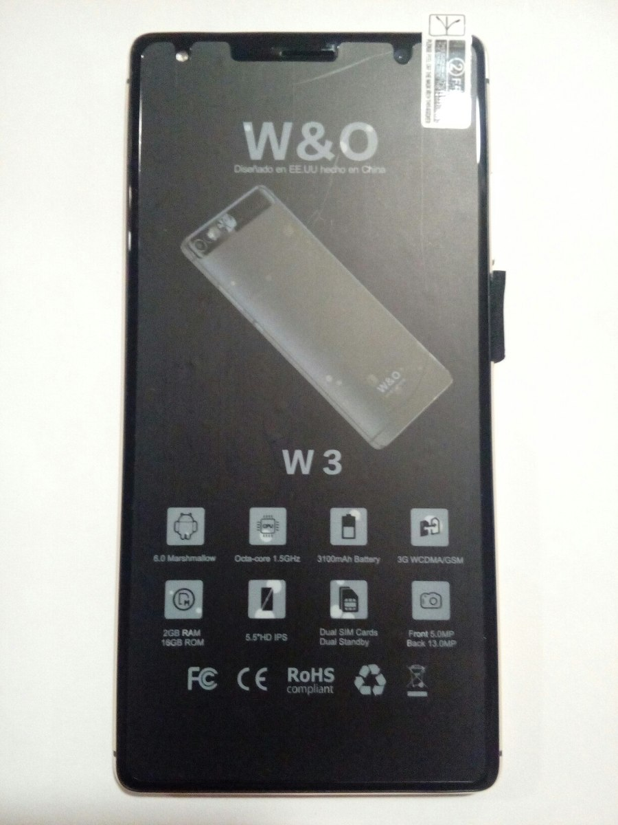 Tarjeta Sim Libre Smartphone W&o W3 Ram 2gb, Rom 16gb, 4g Quad Core, Chip At
