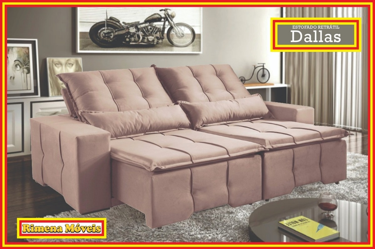 Sofa Retratil E Reclinavel Submarino Estofado Sof Retratil Reclinavel 4 Lugares Dallas Living Room
