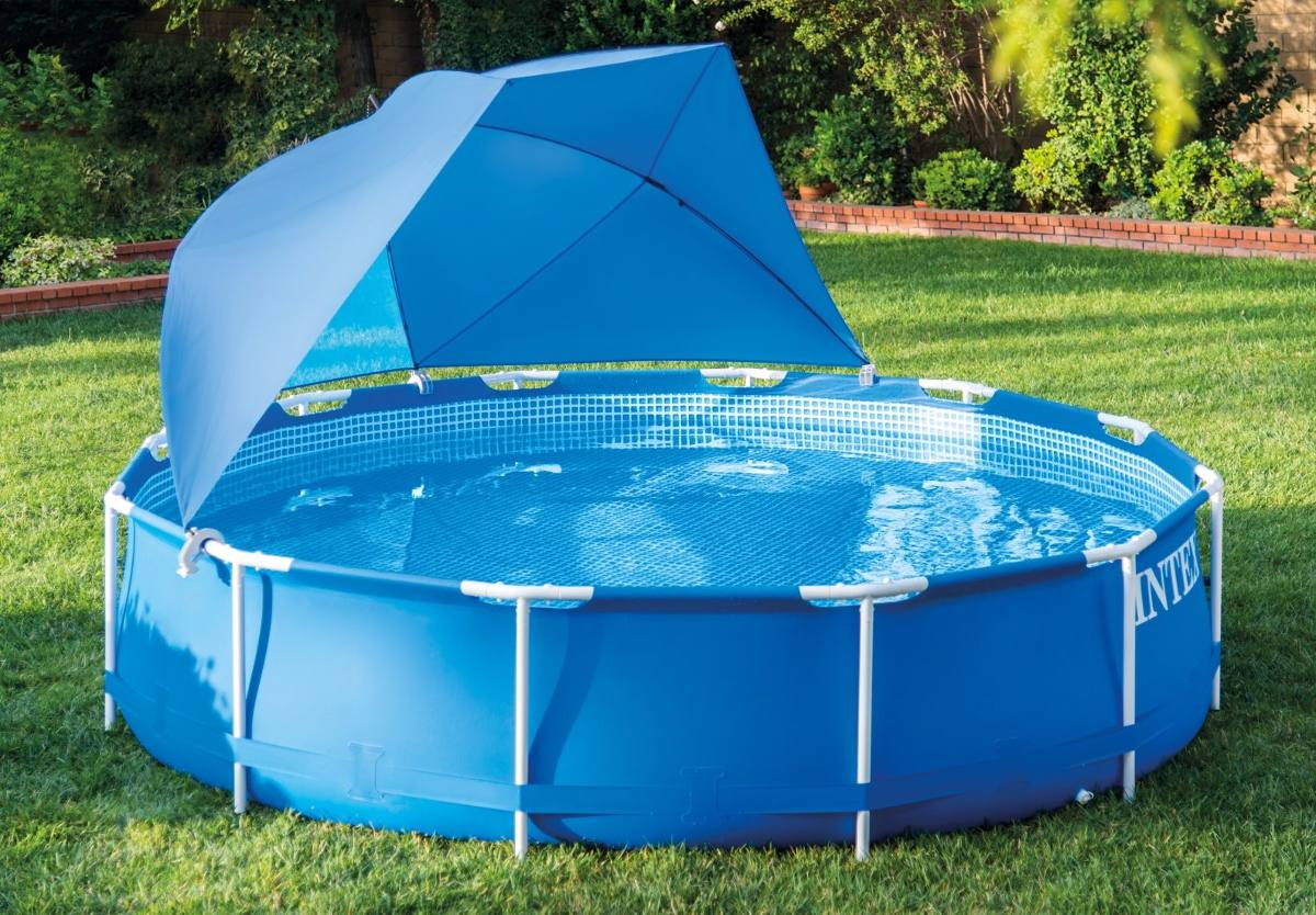 Intex Piscinas Acessorios Sombrilla Ajustable Para Piscinas Intex 28050 De 366 A