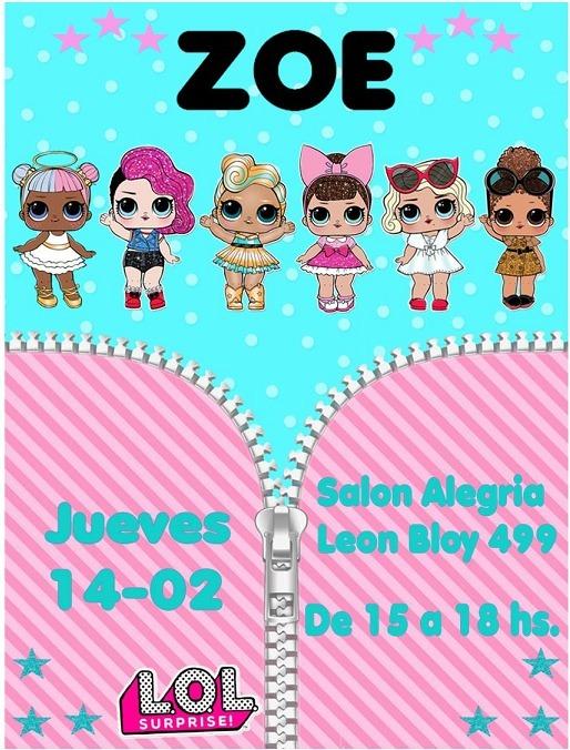 Tarjetas Invitaciones Cumpleaños Lol - $ 7,00 en Mercado Libre