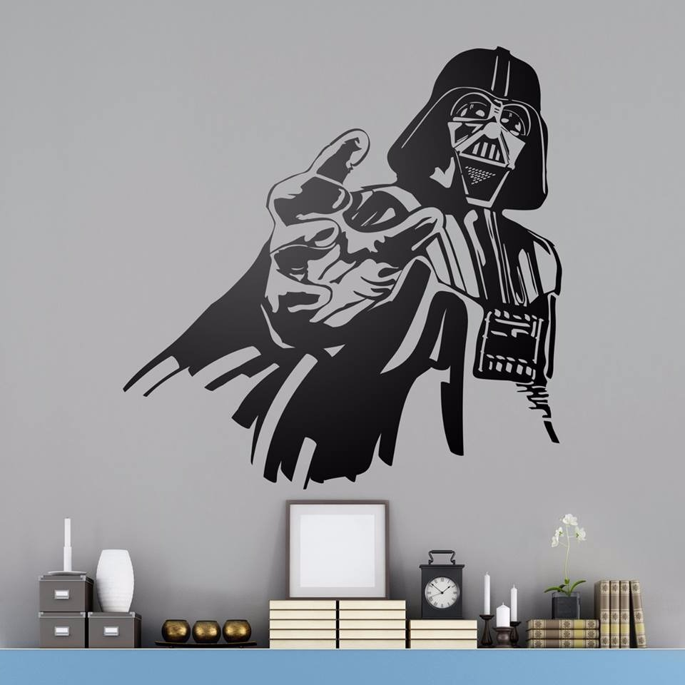 Vinilos Decorativos Star Wars Vinilo Decorativo Star Wars Dart Vader Que La Fuerza Te