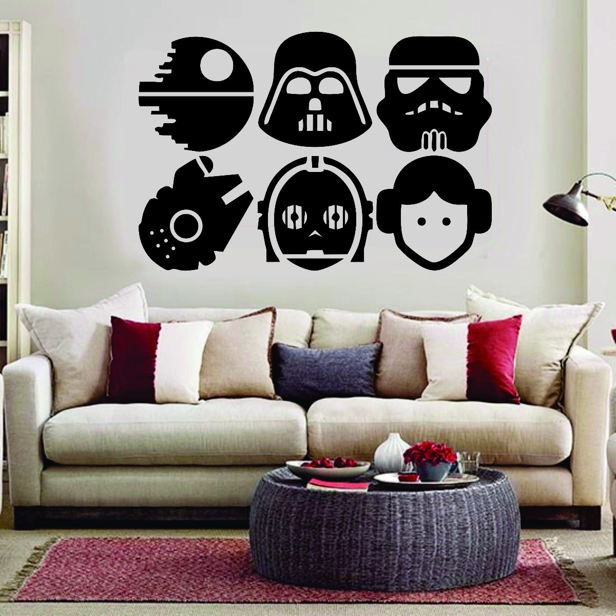 Vinilos Decorativos Star Wars Vinilo Decorativo Star Wars Darth Vader 60cm X 40cm