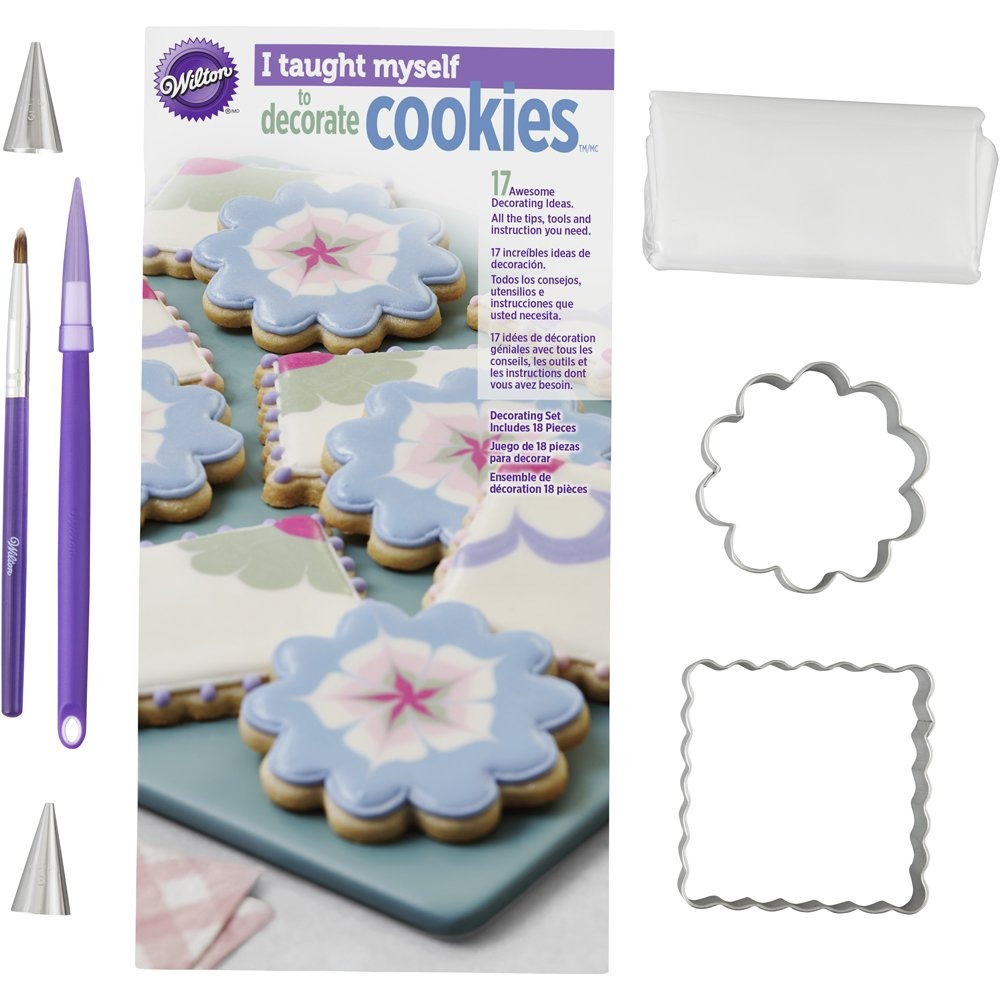 Utensilios Para Decorar Galletas Wiltonjuego Con Libro Para Decorar Galletas
