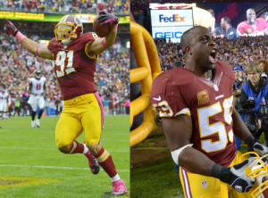 londonandkerrigan 300x222 Redskins London Fletcher and Ryan Kerrigan Heading to the Pro Bowl
