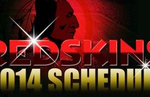 Washington Redskins 2014 Schedule