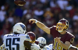 Colt McCoy Replaces Kirk Cousins, Sparks Redskins win Over Titans