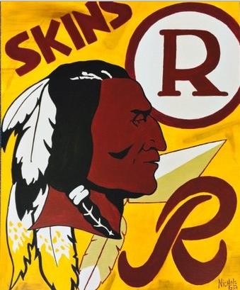 Redskins art by Paul Nichols