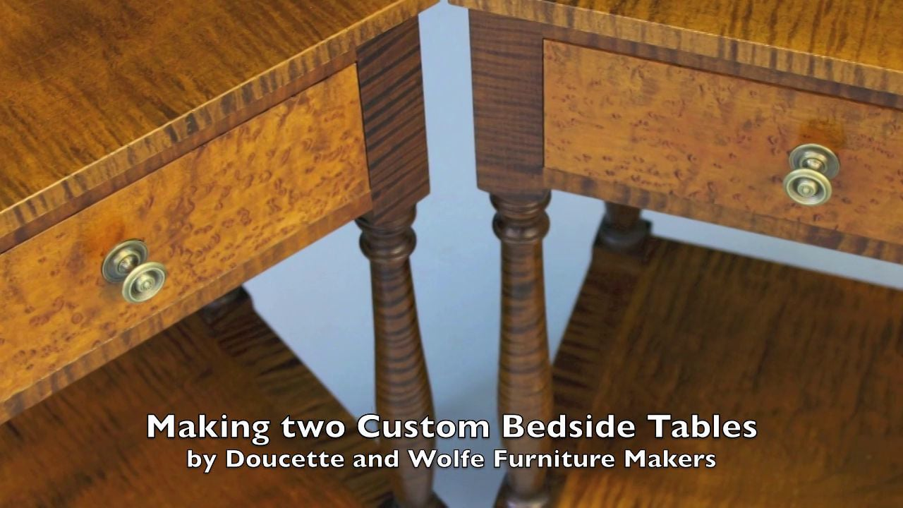 Tiger Maple Night Stand Building Process By Doucette And Wolfe Furniture Makers Birdseye Maple Hubanero Com