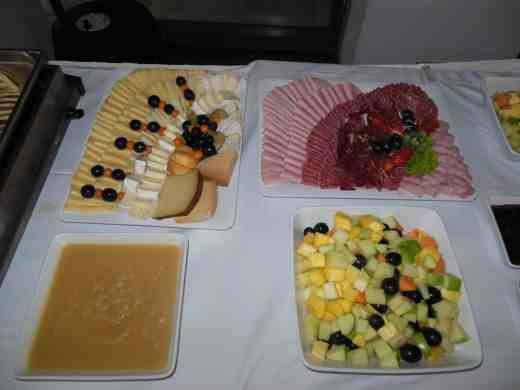 Ein Bild von einem Teil des Frühstücks beim Barcamp Stuttgart 2012