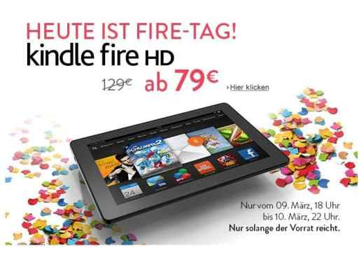 Screenshot von der Amazon Website zur ktion mit den Kindle Fire HD Tablets