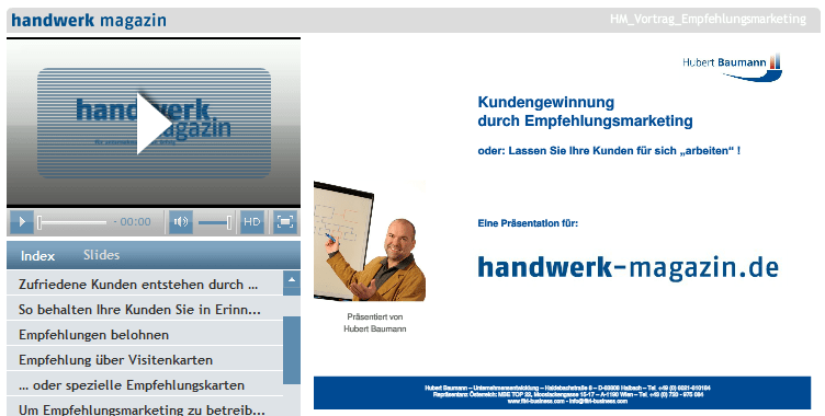 Online-Workshops und Videoaufzeichnungen