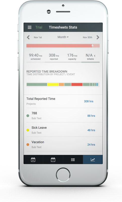 Timesheets, Time Tracking  Reporting Hub Planner