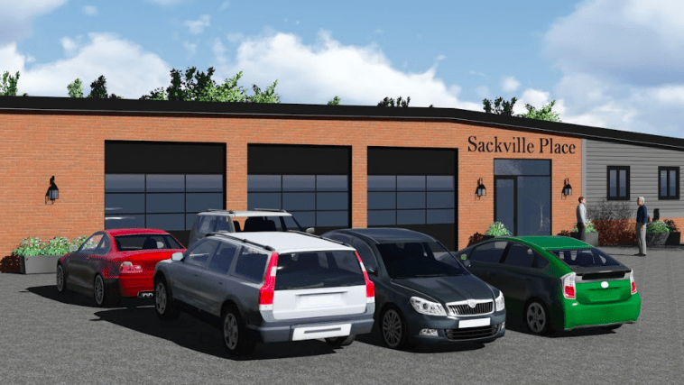 A mockup of what the Sackville Commons and Coworking space might eventually looks like (by Spitfire Creative for building owners J.N. Lafford Realty)