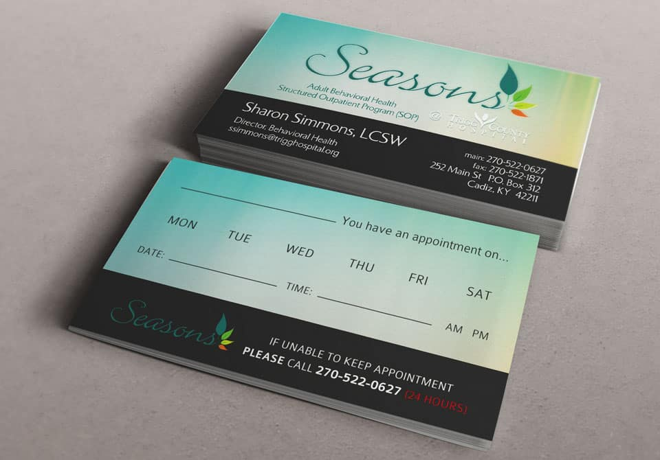 Dorable Business Appointment Cards Mold - Business Card Ideas
