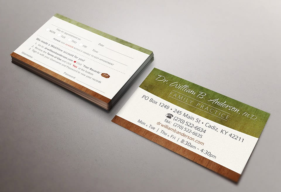 Business Card / Patient Portal Info Card for Family Private Practice