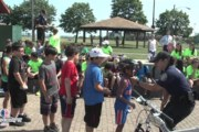 Mayor Davis and Assemblyman Chiaravalloti host Bike Safety Day at 16th St Park in Bayonne