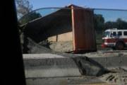 Traffic Alert: Overturned Truck in Kearny between Route 7 & Newark Jersey City Turnpike