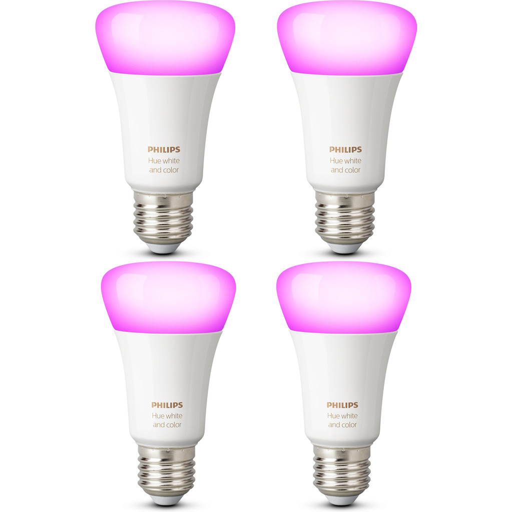Led Verlichting Coolblue Philips Hue White And Color E27 4 Pack