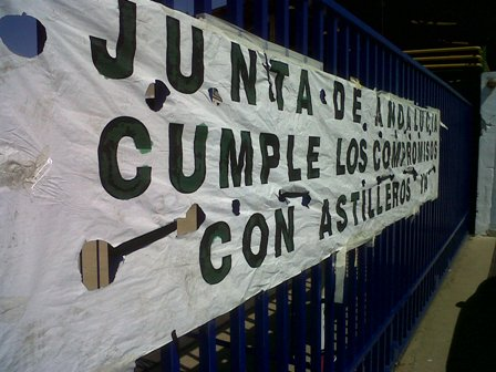 Los trabajadores de Astilleros exigen a la Junta que cumpla