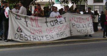 Protesta de los trabajadores de Foret