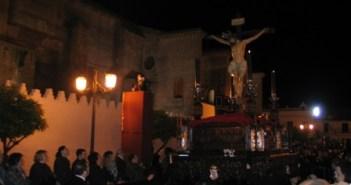 Cristo de la Vera Cruz a su paso por la carrera oficial