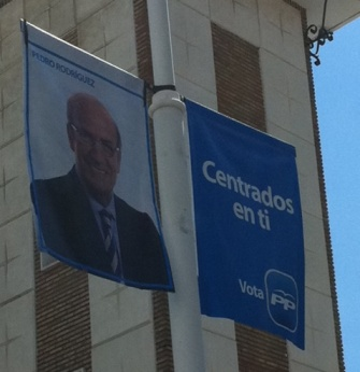 Foto de una de las banderolas.