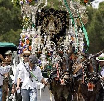 Imagen de archivo de la Hermandad de Ayamonte en el camino.