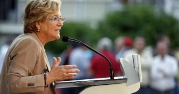 Petronila Guerrero, en un acto público en Huelva.