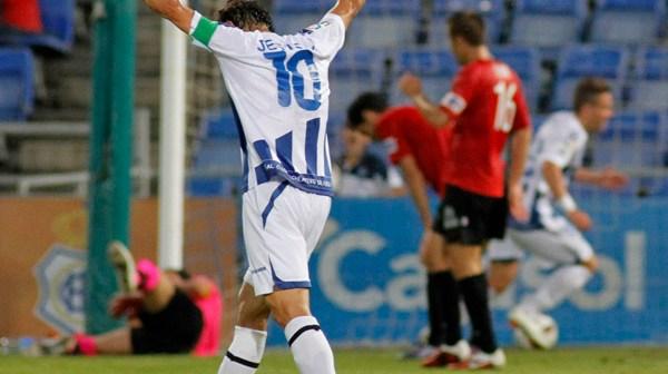 El gol fue lo mejor del partido contra el Nástic. (Foto: Julián Pérez)