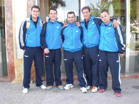 equipo tenis de mesa