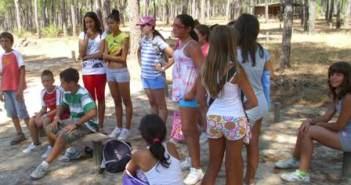 Escolares en una actividad de Doñana 21.