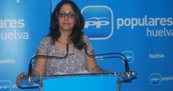 La alcaldesa de Minas de Riotinto, Rosa Caballero.