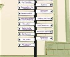 Cartel de la ruta de la tapa