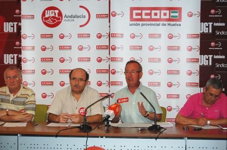 Anuncio de la huelga de hosteleria por parte de UGT y CCOO.