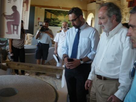 El alcalde de Ayamonte y el subdelegado del Gobierno.