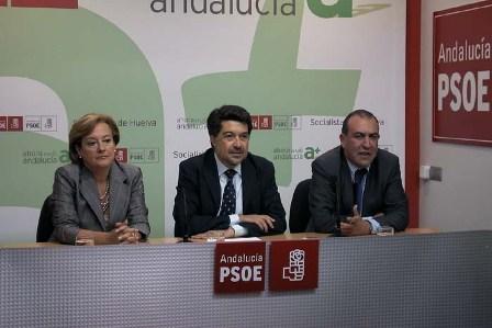 Petronila Guerrero el día en el que se anunció que sería presidenta de la Diputación en sustitución de José Cejudo.