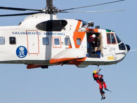 Simulacro de salvamento marítimo. (Foto: Julián Pérez)