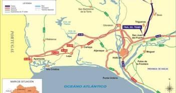 La variante evitará pasar por el casco urbano de Trigueros y Beas.