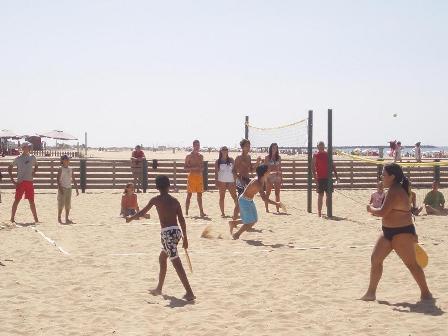 Deportes en la playa.