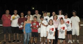 Ganadores torneo tenis de Mazagón.