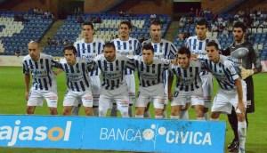 Once del Recreativo de Huelva esta temporada.