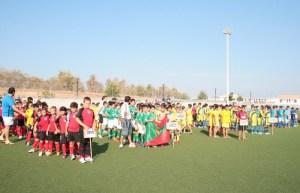 Equipos participantes en un torneo de Fútbol-7.