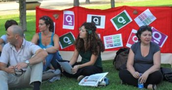 Asamblea en el Parque de Zafra.