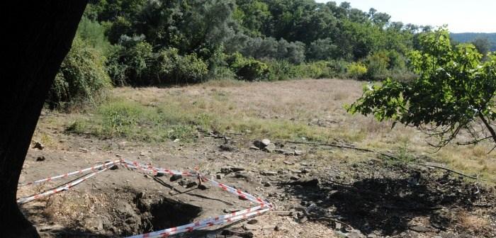 Finca de la aldea de Calabazares, en Almonaster, donde fueron hallados los restos. (Iván Quintero)